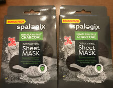Spasations Himilayan Salt & Charcoal Detoxifying Sheet Mask (X2) 2 Mask/each Box