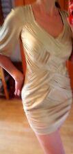 Bebe Bodycon Etuikleid  Kleid  heiß in gold Gr M