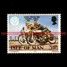HOLMES Alan NORTON 500 MANX GRAND PRIX Isle of MAN 1957 Timbre Poste Moto Stamp