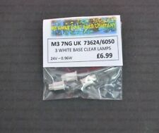 M3 7NG UK CLEAR 24VOLT 0.96WATTS PUSH-IN SPARE BULBS 3 PACK 73624/6050 (0164)