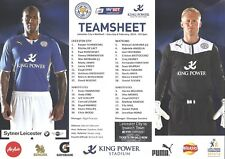 LEICESTER CITY v WATFORD 08.02.14 CHAMPIONSHIP TEAM SHEET