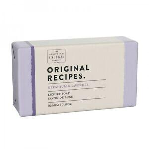 The Scottish Fine Soap Company - Geranium & Lavender Luxury Soap - 220g