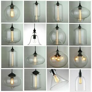 Modern Fashion Industrial Glass Shade Loft Cafe Pendant Light Ceiling Lamp New