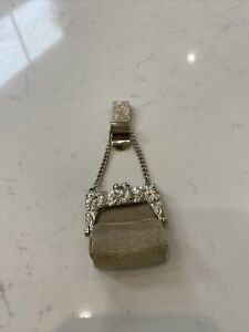 Vintage Tiny Miniature Mesh Chatelaine Purse Coin Purse