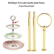 3Tier Cake Fruit Plate Cupcake Stand Rack Fittings Rod Wedding Party Decor Crown