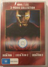 Iron Man 3 Movie Collection DVD **BRAND NEW & Sealed** Region 4 Aus 1 2 3 Marvel