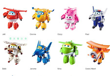 8Pcs Set TV Animation Super Wings Transforming Plane Mini Toys Characters kids