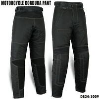 NEW Motorcycle Bikers Cordura Textile Waterproof Trousers Pants Armoured Black