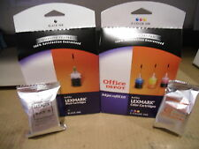 Lot of 1 Black &  1 Color Lexmark  Ink Jet Refill Kits And #16 & #26 Cartridges