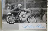 27523 Moto Rennen Foto Con Autografo Ulf Svensson Svezia Honda 1963 Bici