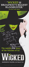 Stephen Schwartz HAND Flyer, Wicked The Musical, Autograph, Defying Gravity