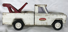 VINTAGE 1960's TONKA JEEP PICKUP TOW TRUCK WRECKER WHITE Pressed Steel
