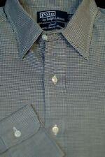Polo Ralph Lauren Men's Lowell Gray Black Check Cotton Dress Shirt 15 x 33