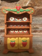 Vintage Strawberry Shortcake Berry Happy Home Hutch China Cabinet Furniture