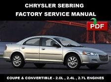service repair manuals for chrysler sebring for sale ebay Chrysler Sebring Convertible Problems chrysler sebring 2001 2002 2003 2004 2005 2006 service repair workshop manual