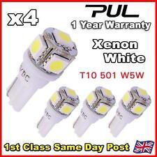 4 x 5 SMD LED XENON White LED 501 T10 W5W Interior Light bulbs - SUPER BRIGHT