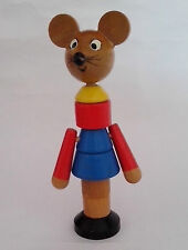 Stacking Toy    Vintage wooden toy Mouse stacking toy   late 1970's