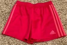 """A*""  ADIDAS youth medium (10/12) mesh lined shorts red/pink"
