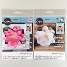 Sizzix David Tutera Lot Of 2 Large Lotus & Large Magnolia Framelits Dies Flower