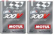 2 L Motul 300v High rpm 0w20 carreras aceite de motor Ester Core