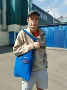 Patagonia Synchilla Shopper Bag Fitzroy Snap-T Blue Crafted Pullover 1/4