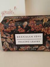 Beekman 1802 Falling Leaves Goat Milk Bar Soap 9 oz New & Sealed