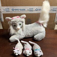 Hasbro Kitty Surprise 8825 Gray Mama Cat & 3 Baby Kittens Vintage 1992 Plush Toy