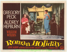 ROMAN HOLIDAY Lobby Card #3 N.Mint 11x14 Inch 1953 MOVIE POSTER AUDREY HEPBURN