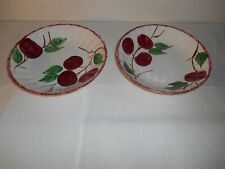 "Nice Pair of Blue Ridge Southern Potteries Crab Apple Pattern 8"" Bowls"
