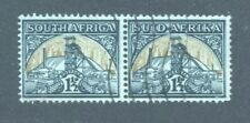 South Africa 1½d Gold Mine, bilingual pair, Fine Used.