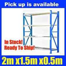 2m X 1.5m Steel Metal GARAGE STORAGE WAREHOUSE SHELVING RACKING Shelves NEW 1.5