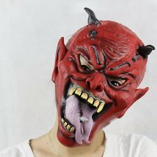 Scary Yasha Hell Horns Imp Mask Adult Latex Full Head Mask Props