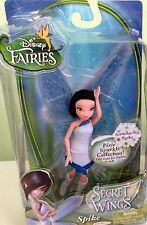 "Disney Fairies SPIKE Secret of the Wings 4.5"" Pixie Sparkle Doll -RARE - NEW"