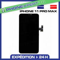 ECRAN LCD RETINA VITRE TACTILE ASSEMBLÉ SUR CHASSIS POUR IPHONE 11 PRO MAX NOIR