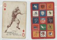 1963 Stancraft Playing Cards Red Back #QD Joe Perry San Francisco 49ers Card