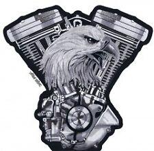 Patch Aigle Vtwin eagle écusson thermocollant biker blouson gilet moto custom PF