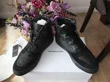 BALENCIAGA Panelled Leather baskets High Top Sneaker Chaussures Hommes Chaussures Shoes