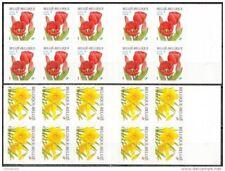 BelgiE**NARCIS & DARWIN TULP-Flowers-2 Boekjes/Carnets 10vals-TULIP-Bloem-Fleurs