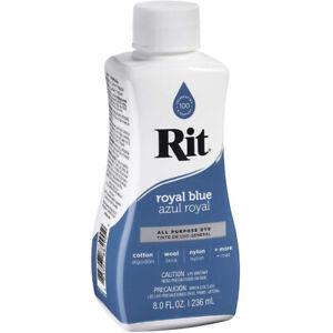 Rit Liquid Dye All Purpose 8 Ounce Fabrics Wood Crafts Paper 88290, Royal Blue