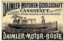 Daimler Motor Boote * Daimler MG *  Cannstatt  Historische Reklame von 1893