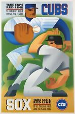 2005 CHICAGO CUBS VS SOX CTA RED LINE CROSSTOWN SERIES PROMO POSTER 11x17