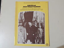 BOB DYLAN -J.W.H. GUITAR EDITION -ORIGINAL & MINT '60s SHEET MUSIC BOOK-32 pages