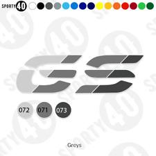 GS Slice Vinyl Decal / Sticker - 2 x 125mm Greys BMW GS 1200 800 700  2899-0119B