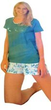 Ladies Short Jersey Pyjama Set Size 8-22 Summer Short Pyjamas Nightwear Floral