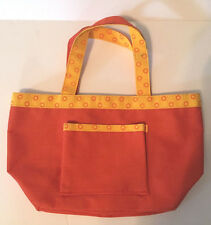 Purse Orange with Yellow Trim 100% Polyester 10in x 6in no closure