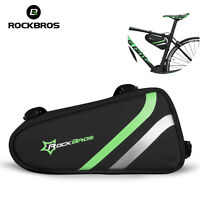 RockBros Cycling Bicycle Triangle Frame Bag Pannier Bike Tool Front Top Tupe Bag