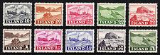 ICELAND — SCOTT 258//268 — 1950-54 PICTORIALS — SHORT SET — MNH — SCV $149.25