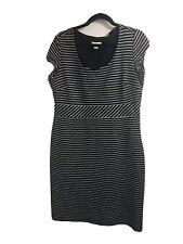 Monsoon Navy Stripe Stretch Dress Uk 16