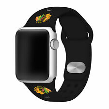 Chicago Blackhawks Silicone Sport Band Compatible With The Apple Watch