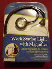 Work Station Light, Dritz with Magnifier Adjustable Goosenecks arts n crafts